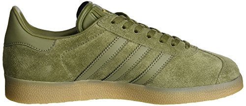 adidas Gazelle, Sneakers Basses Mixte Adulte Vert (Olive Cargo/olive Cargo/gum)