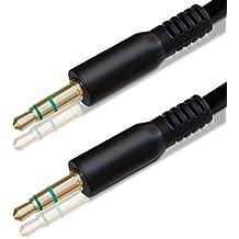kwmobile Cable audio de conectores Jack de 3,5 mm – estéreo, Jack/Jack – 1 m
