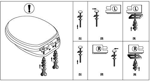Wc-Sitz Toilettensitz Mod. Blumen mit Absenkautomatik