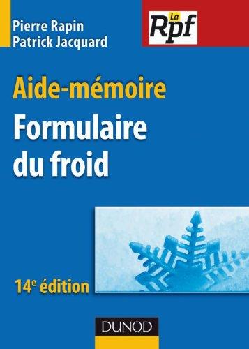 Aide-mmoire formulaire du froid - 14e dition