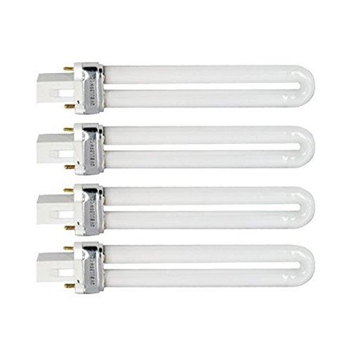 LEORX 9W-Watt-Birne für Nail Art UV Lampe Licht Ersatz - 4 pcsset