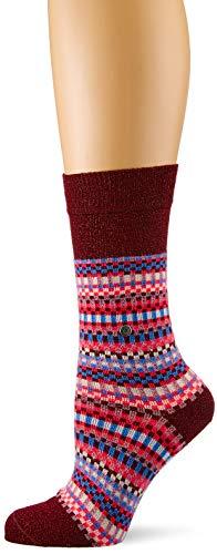 Burlington Damen Socken Fair Isle, Mehrfarbig (Mahogany 8344), 36/41