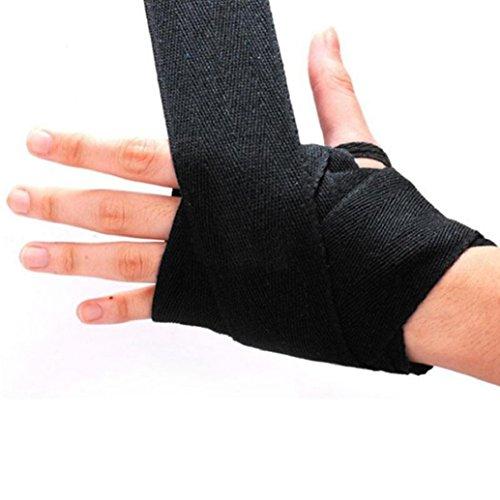 Gemini® fasce per guantoni da MMA, bende di protezione da pugilato, Black