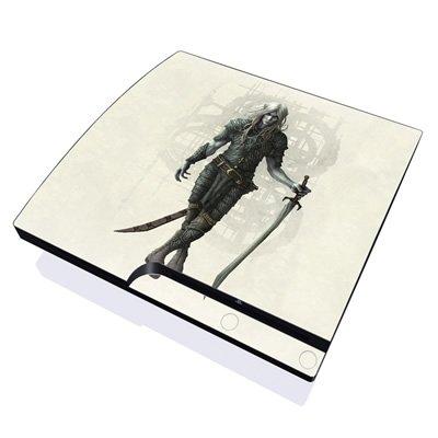 mygift-dark-elf-design-skin-decal-sticker-for-the-playstation-3-ps3-slim-console