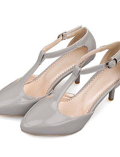 LFNLYX Chaussures Femme-Habillé / Décontracté-Noir / Gris / Beige / Bordeaux-Kitten Heel-D'Orsay & Deux Pièces / Bout Pointu-Sandales-Cuir Verni beige