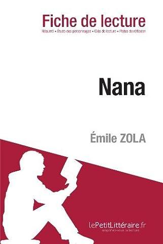 Nana de ????mile Zola (Fiche de lecture): R????sum???? complet et
