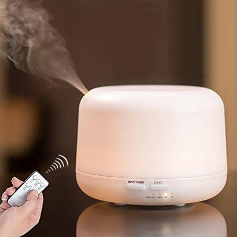 Aroma Diffuser Accfly 300ml Luftbefeuchter Ultraschall Luftbefeuchter 7-farbige LED-Lichterfür Mist Luftbefeuchter Beauty-Salon,Wohnzimmer, Konferenzraum,Spa,Yoga,