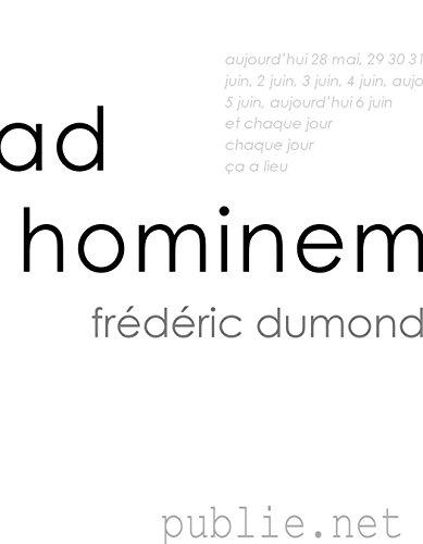 Livres Ad hominem: aujourd'hui et chaque jour ça a lieu pdf ebook