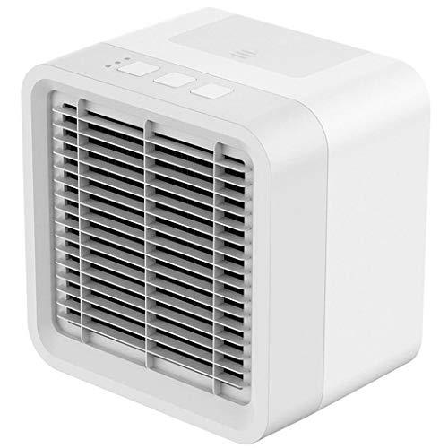 Mobile KlimageräTe, Luftreiniger Und Aroma Diffuser, PersöNlicher LuftküHler Mini-USB-LüFter FüR Tragbare Klimaanlagen Desktop-RaumküHler 2019 TWBB (Weiß)