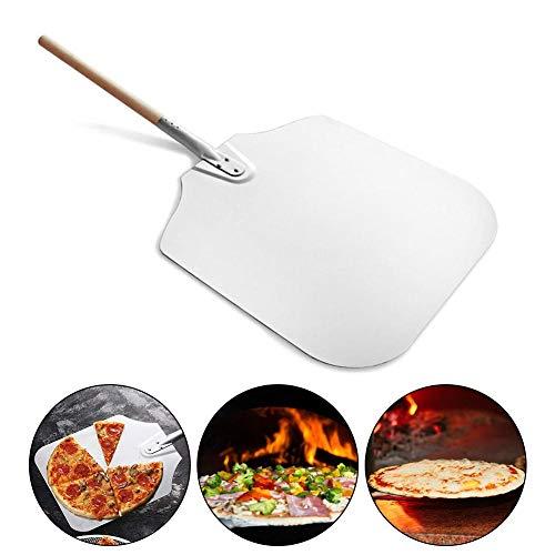 Kindlyperson Pizza Peel, verschraubte abnehmbare Edelstahl-Pizzaschaufel, Pizzapaddel Tolles Set zum Backen von Pizza, Keksen und Brot in jedem Ofen oder Grill 12