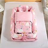R.S. Baby Nest Matratze Weich Baumwolle Neugeborenes Liege Entfernbar Abdeckung Zum Kleinkinder Kleinkinder, Mit Decke,2