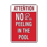 Liebe keine Peeing in the Pool Activity Pool Neuheit Outdoor Yard Dekorative Aluminium Metall Schild