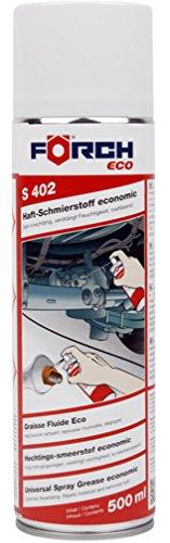Förch S402 Haft Schmierstoff 500ml - rostlösend, wasserabweisend und feuchtigkeitsverdrängend ideal für Rollen, Kugellager, Zahnrad- und Schneckengetriebe, Gelenke und Kupplungen