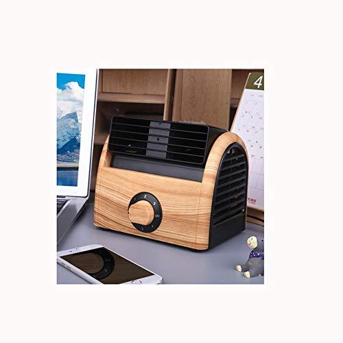 Kini Mini Fan Home Desktop Desktop Kleiner Fan Studentenwohnheim Büro Tragbare Nicht USB Blattlose Kühlung Klimaanlage Schlafzimmer Mit Taschenlampe Lüfter Lüfter Großer Wind 2019 (Farbe : C)