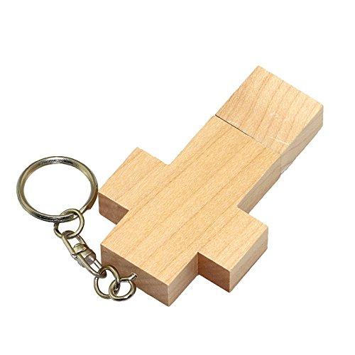 Civetman 8GB Ahorn Holz Kreuz USB Falsh Drive Pendrive Memory Stick