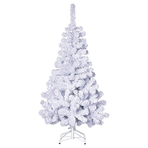 Roi des pins Sapin de Noël Artificiel 100% Floqué - H. 150 cm - Blanc