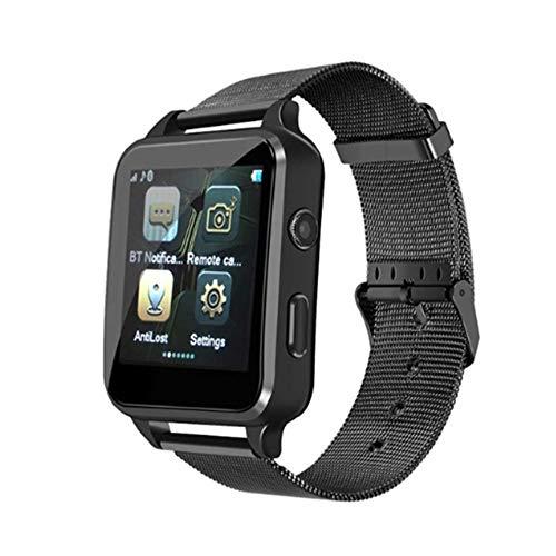 JDTECK Cubot J5 Watch Connected Black Edition METALLARMBAND, Smartwatch SIM/TF (Micro SD), Bluetooth Sender, Kamera und Touch Smart, Tracker Fitness Waterproof Kompatibel mit Ihrem Cubot J5