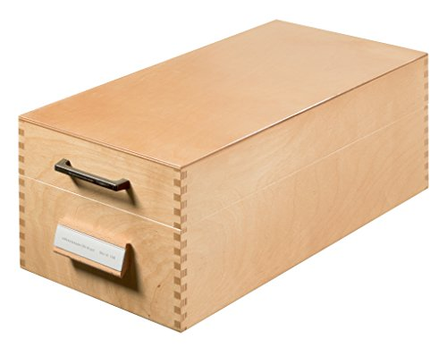 HAN Karteikasten 1006, DIN A6 quer aus Holz / Hochwertige Lernkarteibox aus edlem & robustem Naturholz für 1.500 DIN A6 Karteikarten / Ideal zum Vokabeln lernen & als Lehrmaterial