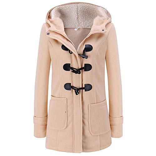 Cappotto con Cappuccio da Donna Lungo Essenziale Cappotto A Maniche Lunghe Cappotto Lungo Cappotto Lungo Elegante Cappotto in Montgomery di Moda Vintage Cappotto Invernale Autunno Inverno