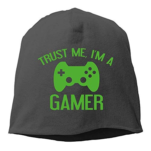 Skull Beanie Hat Trust Me, I'm A Gamer Mens Warm Winter Cuff Watch Cap
