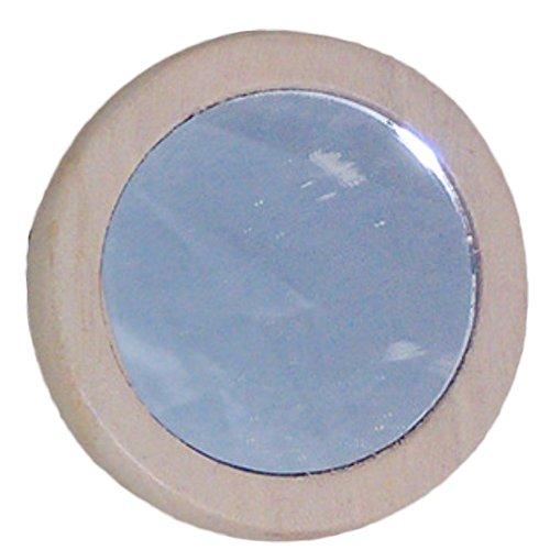 Holz Mini Kosmetikspiegel Taschenspiegel Retro-Stil Holz-Spiegel Kompakt und Tragbar,5 Stück (Holz-hand-spiegel)