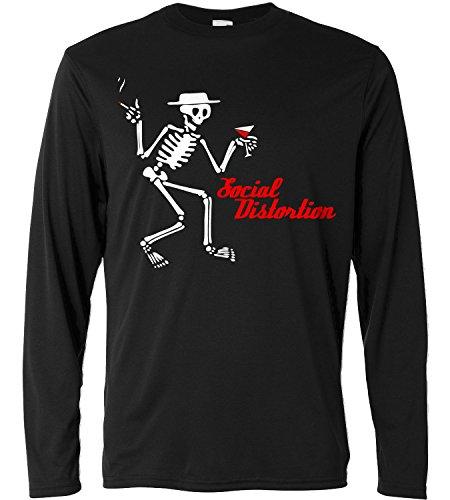 T-shirt a manica lunga Uomo - Smashing Pumpkins - Skeleton - Long Sleeve 100% cotone LaMAGLIERIA, XL, Nero