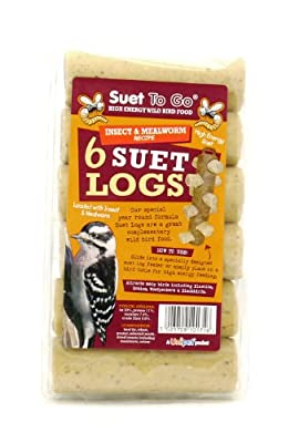 Suet To Go Insect Suet Logs 6pk (Pack of 6) by Unipet