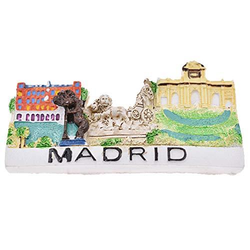 Hongma Kühlschrankmagnete Spanien Madrid Prägen für Pinnwand Whiteboard Dekor (Magnet Madrid)