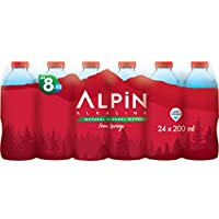 Alpin Alkaline Low Sodium Mineral Water - 200 ml (Pack of 24)