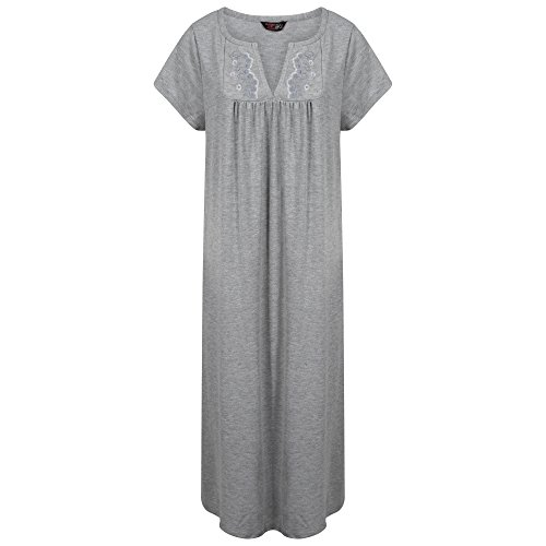 Indigo Sky Damen Nachthemd Grau