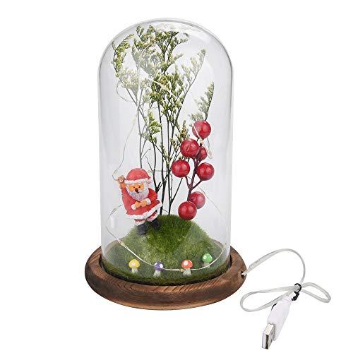 Wawer USB-Ladevorgang Kupferdraht Lampe mikroskopische Szene Weihnachtsmann rote Früchte Dekoration Ornamente Weihnachtsbaum Dekoration Urlaub Geschenk