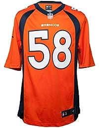 Nike Denver Broncos NFL Game Team Jrsy - Top de Manga Corta para Hombre 8a697f238cf