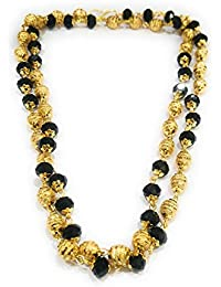 Micro Gold Plated Chain With Black Beaded Chain For Women By StoresHub For Women By StoresHub
