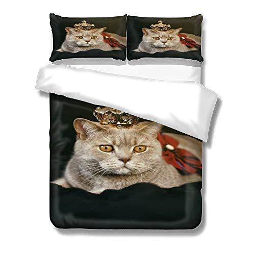 ppelte Bettdecke Bettbezug und Kissenbezug Paar, Baumwolle mit hoher Dichte Mikrofaser ()