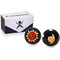 Meditation Qi-Gong-Kugeln mit Klangwerk | Klangkugeln | Yin Yang | Design Sonne und Mond schwarz | verschiedene... preisvergleich bei billige-tabletten.eu