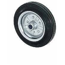 Lenkrolle Bremse 100mm grau Gummi 90kg Transportrolle spurlos Gummirad Rolle