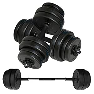 Body Revolution Vinyl Dumbbell Set – Adjustable Free Weights 10kg 15kg 20kg 30kg 40kg 50kg Sets(20kg)