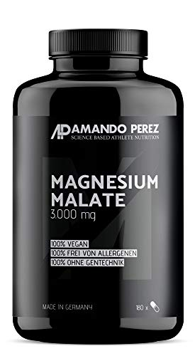 Magnesium Malate 3000 pro Dosis - 180 Vegane Tabletten -