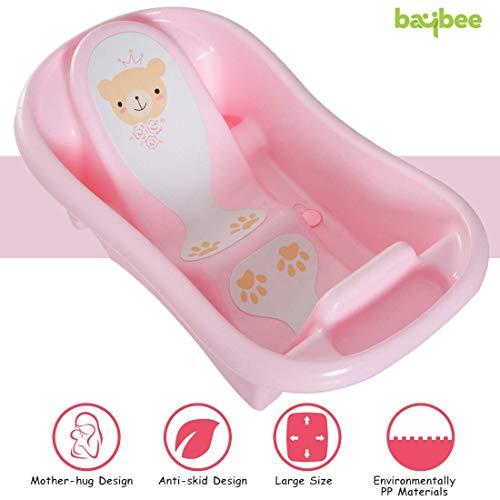 Baybee Amdia Multistage Bath tub Newborn to 18 Month - (Pink)