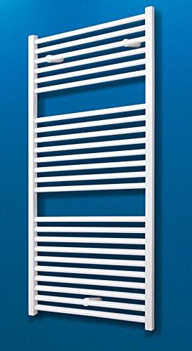 elektro handtuchhalter Bad-Heizkörper Toskana, 113x60 cm, 627 Watt Leistung, Anschluss unten, alpin-weiß, Handtuchhalter-Funktion, Der Renovierungsprofi