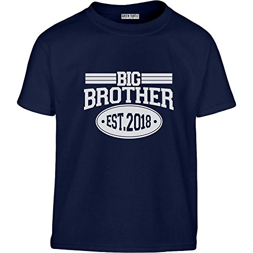 Big Brother 2018 - Geschenke für Bruder Kleinkind Kinder T-Shirt - Gr. 86-128 104 (3-4J) Marineblau (Kleinkind-t-shirt 4)