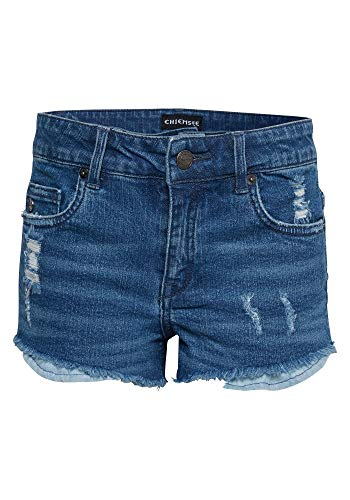 Chiemsee Mädchen Jeans Shorts, Blue Nile, 158/164