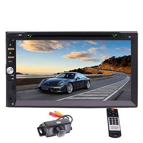EINCAR 7 Zoll kapazitiver Touch Screen Auto-Stereo Dash Double 2 DIN-Format Unterstützung Bluetooth FM AM RDS AUX USB SD Subwoofer Lenkrad-Steuerung Hintere Kamera eingeschlossen (Auto Eingeschlossen Subwoofer)