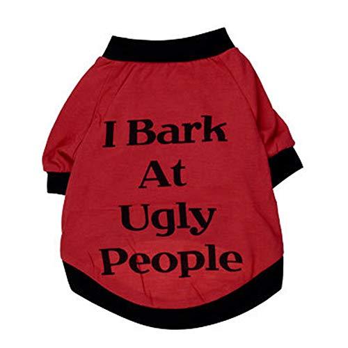 Red Kostüm Shirt Tuxedo - XGPT Hundebekleidung Haustier Kostüm Cotton Trikot rot I BARK Haustier T-Shirt Medium und kleine Hunde Frühling und Sommer,Red,L