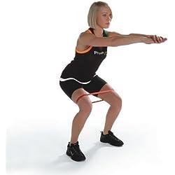 PhysioRoom - Bande Elastique de Résistance - Accessoire Musculation Rééducation Yoga Pilates - Renforcement de Tous les Muscles de Votre Corps - Quatre Niveaux de Résistance Disponibles