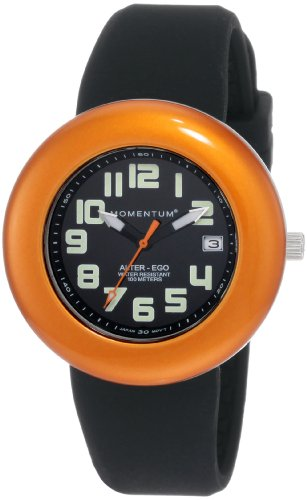 Momentum Ladies 1M-Sp99Bo1B Alter Ego Orange Bezel Black Band Watch