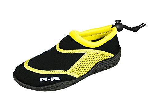 PI-PE Active Badeschuhe Kinder Jungen und Mädchen Aquashoes Schwimmschuhe (Bicolor, 35)