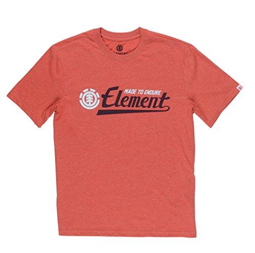 Element Herren Signature T-Shirt rot meliert