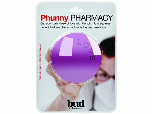 Present Time Bud Phunny Pharmacy Borsa a forma di pasticca che dice Love