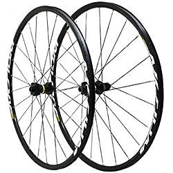 SELECTION P2R (Cycle) Roues Route 700 Mavic aksium Disc 6trous axe 12x142 et 12x100 Noir 11-10v. Shimano (Avant + Arriere) - Serie Limitee